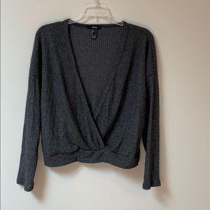 Forever 21 Wrap V Neck Sweater